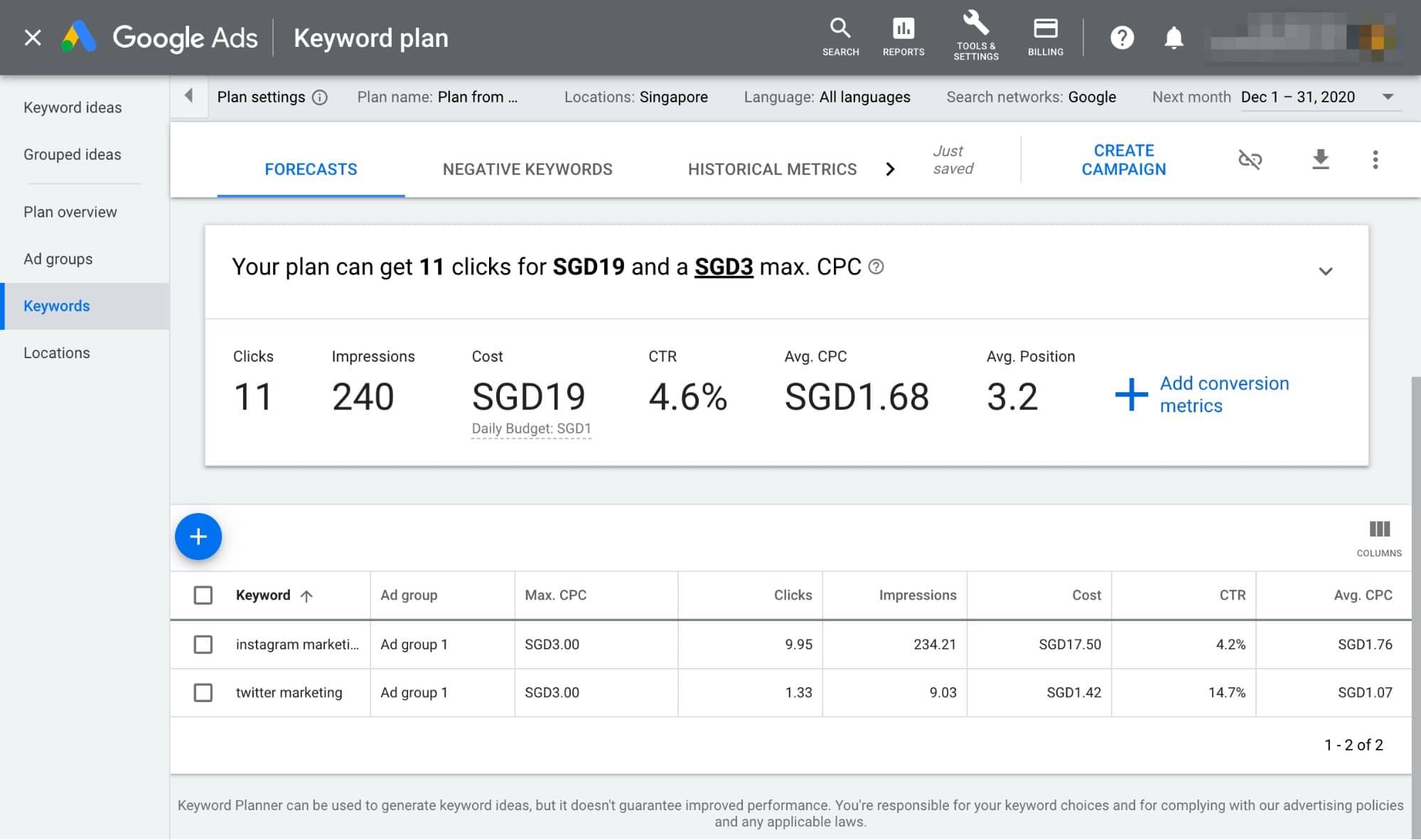 گوگل کیورد پلنر ( Google Keyword Planner ) | ابزار های سئو و بهینه سازی سایت به صورت رایگان | وب جوان